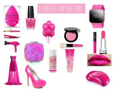 """""""We can beat Breast Cancer!"""" by anaiskwesele1 ❤ liked on Polyvore featuring Bobbi Brown Cosmetics, OPI, beautyblender, amika, NARS Cosmetics, Barry M, Tangle Teezer, Qupid and IWearPinkFor"""