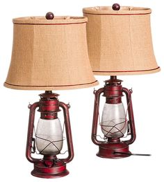 Oil Lantern Table Lamp - 2-Pack | Bass Pro Shops: The Best Hunting, Fishing, Camping & Outdoor Gear