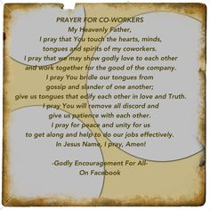 Prayer for co-workers