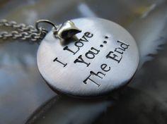 Handstamped Necklace Valentines Jewelry Valentines Necklace Handstamped Jewelry via Etsy