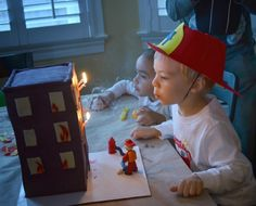 My dear Sebastian turned four just a few weeks ago, and to celebrate, he requested a firefighter birthday party. And so that was what he got. In past years we have done a rocket...