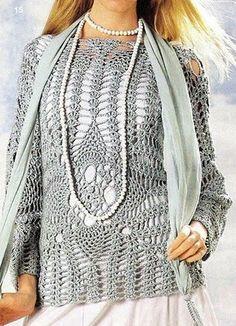 Beautiful blouse in crochet