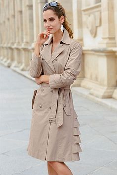 Together | Trench Coat - Frill Hem