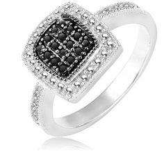 $39.99 - 1/5 Carat Black Diamond Sterling Silver Ring