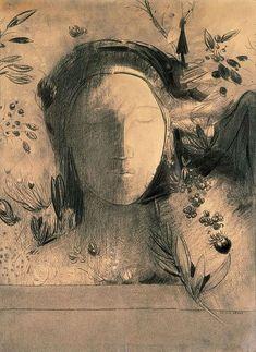"Odilion Redon, ""Light and Shadow, 1900 https://uk.pinterest.com/vanalpyn/redon-odilon/"