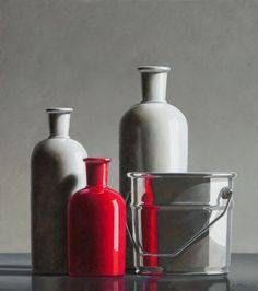 Henk Boon Beeldend kunstenaar, Recent werk Still Life Photography, Art Photography, Shades Of Gray Color, Realistic Paintings, Hyperrealism, Still Life Art, Glass Ceramic, Photo Reference, Art Inspo