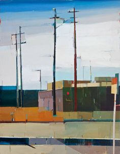 """Suhas Bhujbal, """"A Quiet Town #135,"""" 2014, oil on canvas, 90 x 70 in. Andrea Schwartz Gallery"""