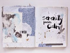 @paperhelen | Instagram | Get Messy Craft Swap | Season of Serenity | Get Messy Art Journal