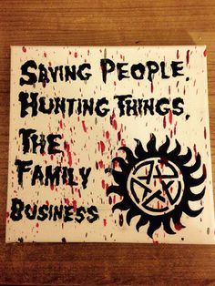 An attempt at a Supernatural themed canvas with the use of melted crayons :)