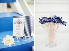 Nautical Styled Shoot with navy stripes   marine rope