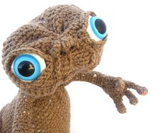 Custom E.T plush amigurumi