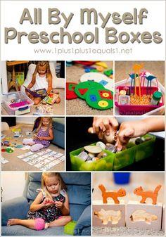 All By Myself Preschool Boxes @{1plus1plus1} Carisa