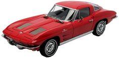 F/S AUTOart CHEVROLET CORVETTE 1963 COUPE RIVERSIDE RED 1/18 Scale Model Car #AUTOart #CHEVROLET
