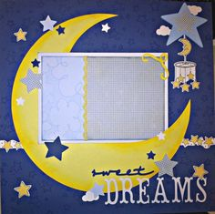 Premade Scrapbook Page Sweet Dreams Baby Boy Girl | for sale on eBay