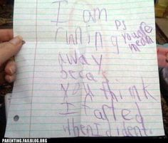 LOL, this will be my daughter when she learns to write! so funny to me!