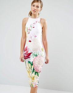 Ted Baker Julee Midi Dress in Encyclopedia Floral Print