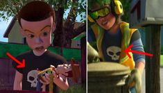 In Toy Story 3, the garbage man is actually a grown-up Sid, aka the terrifying little kid from the first movie.