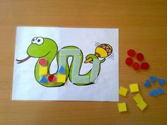 serp de sèries Snake Crafts, Art For Kids, Crafts For Kids, Math Patterns, Numeracy, Educational Games, Teaching Materials, Activities For Kids, Art Projects