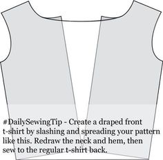 How to make a draped neck shirt pattern
