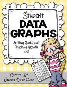 These student-maintained graphs empower young students and are great documents to share at parent conferences and/or for RTI meetings. Kept in private data folders, they're an age-appropriate way to introduce data collection to primary children. (54 Pages, Updated Feb. 2015) #studentdata #datafolders $