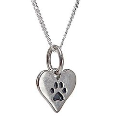 Look at this Ag Sterling Jewelry Sterling Silver Paw Print Heart Pendant Necklace on #zulily today!