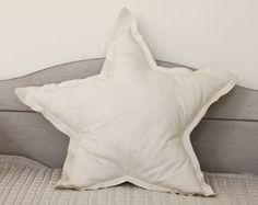 Star shaped Pillow or cushion  cream soft cotton by ColetteBream, $24.00