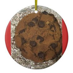 Chocolate Chip Cookie ornament - Xmas ChristmasEve Christmas Eve Christmas merry xmas family kids gifts holidays Santa