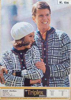 Norwegian Sweater Pattern circa 1969