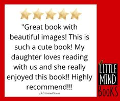 """We love to hear that people like the first book in the Little Mind Book Series """"The Night of the Lights."""" Thanks for letting us know what you thought! What You Think, Daughter Love, Love Reading, Great Books, Book Series, Thinking Of You, Thankful, Mindfulness, Let It Be"""