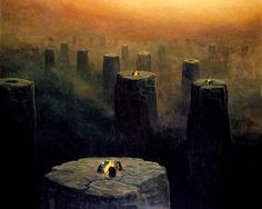 Obrazy Zdzisława Beksińskiego – czy nadawanie tytułów obrazom to profanacja?