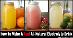 How To Make A Real All-Natural Electrolyte Drink ►► http://www.herbs-info.com/blog/how-to-make-an-all-natural-electrolyte-drink/?i=p