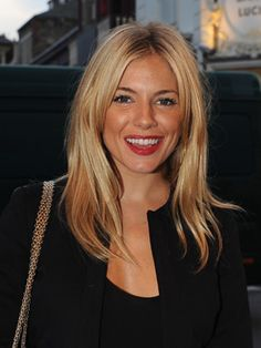 Sienna Miller - Golden Blond - Blonde Hair Color Ideas and Pictures - StyleBistro Medium Hair Cuts, Medium Hair Styles, Short Hair Styles, Haircut Medium, Medium Cut, Hairstyles With Bangs, Straight Hairstyles, Cool Hairstyles, Hairstyle Ideas