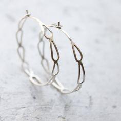 Silver Hoop Earrings   Sterling Silver Filigree di moiraklime