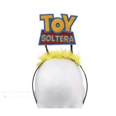 "Vincha con frase ""Toy soltera"""