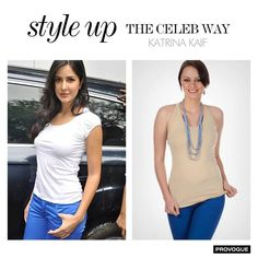 #styleuplikeceleb  Have look similar to Katrina Kaif Blue pants at Rs 1020 Only Buy now- www.provogue.com