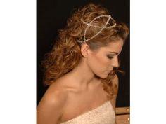 Tocado para novia de diadema griego