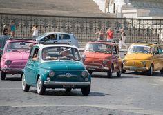 Der Fiat 500 - so süß in den tollen Farben