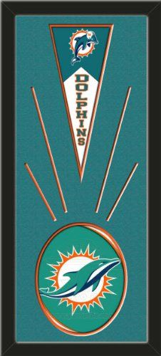 Miami Dolphins Wool Felt Mini Pennant & Miami Dolphins Team Logo Photo - Framed With Team Color Double Matting In A Quality Black Frame-Awesome & Beautiful-Must For A Championship Team Fan! Most NFL, MLB, NBA, Teams Available-Plz Mention In Gift Message If Need A different Team Art and More, Davenport, IA http://www.amazon.com/dp/B00HSE3F8K/ref=cm_sw_r_pi_dp_mTEEub1CC7G2M