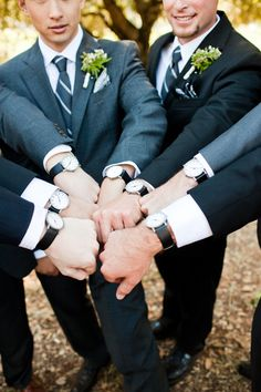 Handsome groomsmen gift. Perfect idea. Different watches