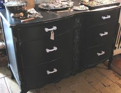 Black beauty of a dresser from Sisters Garden and Bloom!