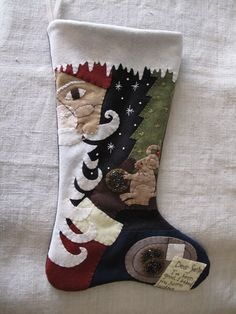 Cookies For Santa Christmas Stocking E-PATTERN by cheswickcompany