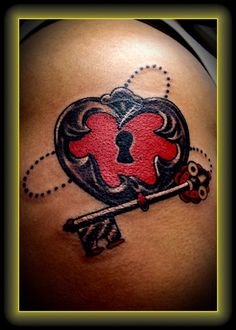 #heart #tattoo #key sag