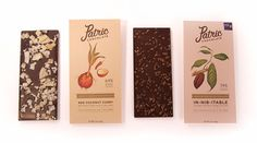 Patric chocolate's new packaging.