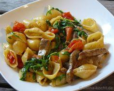 Conchiglie mit Rindfleisch und Tomaten - katha-kocht!