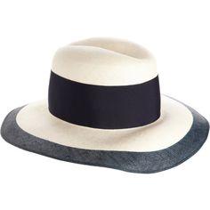 $320 Acne Studios Wide Brim Hat - White/navy
