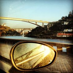 #bridges #douro #river #blue #sky #car #mirror #sun #sunny #day #street #houses #trees #porto #portugal #portugaldenorteasul #igers_porto #instagood #webstagram #statigram #picoftheday #photooftheday - @ritzdesousa- #webstagram