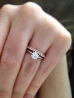 Nice Two Tone Set Six Claw White Metal Solitaire With Diamond Rose Gold Wedding