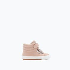 ZARA - KIDS - CASUAL LINED HIGH-TOP SNEAKERS