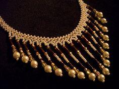 Cristal borla cuentas perla collar de babero para mujeres por Rs4U