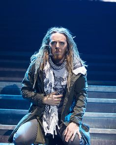Tim Minchin was just incredible as Judas in Jesus Christ Superstar. cool look for godspell